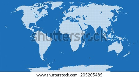 Pixel world map very high detail stock vector 205205485 shutterstock pixel world map very high detail gumiabroncs Choice Image