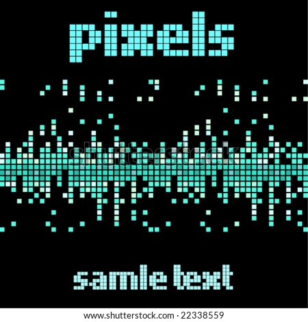 Pixels - stock vector