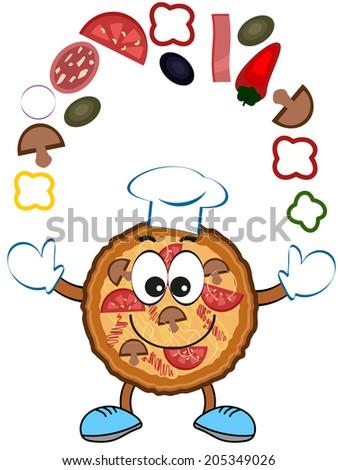 Pizza. - stock vector