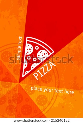 pizza background - stock vector