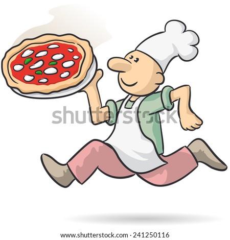 pizza express - stock vector