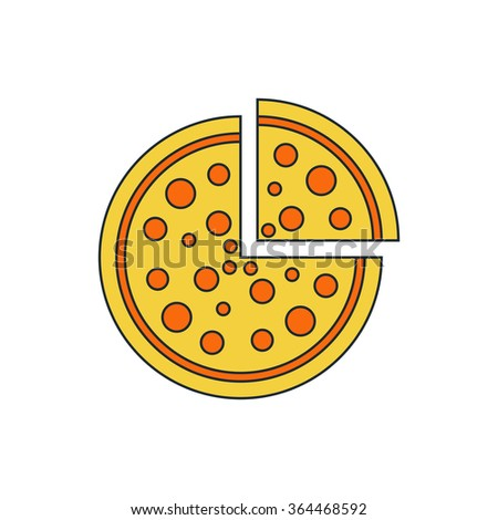 Pizza icon - stock vector