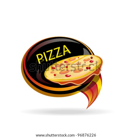 pizza icon - stock vector