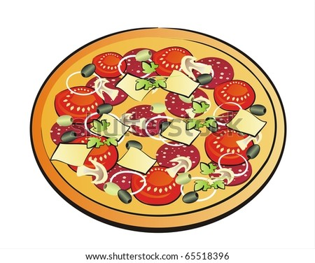 pizza isolated illustration
