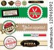 Pizza Labels - stock vector