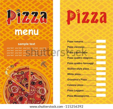 Food Menu Layout Stock Images RoyaltyFree Images  Vectors