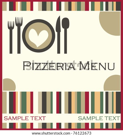 Pizza Menu Stock Vector   Shutterstock