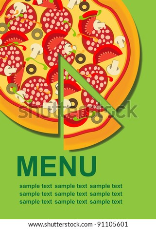 Pizzeria Menu Stock Images RoyaltyFree Images  Vectors