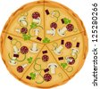 Pizza on a white background. Isolate. - stock