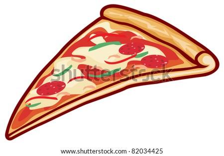 pizza slice - stock vector