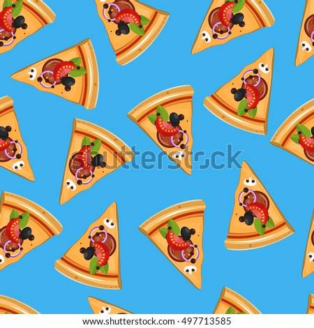 repeating pizza background - photo #12
