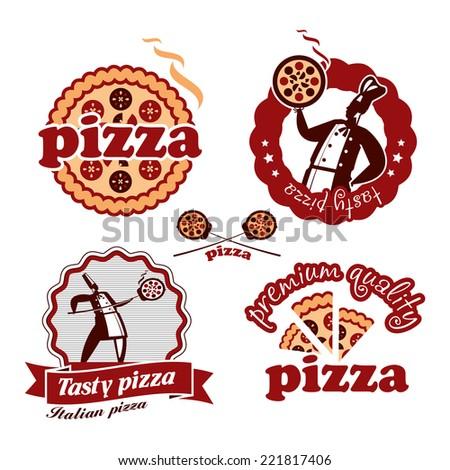 Pizza. Vector format - stock vector