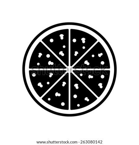 Pizza - vector icon - stock vector