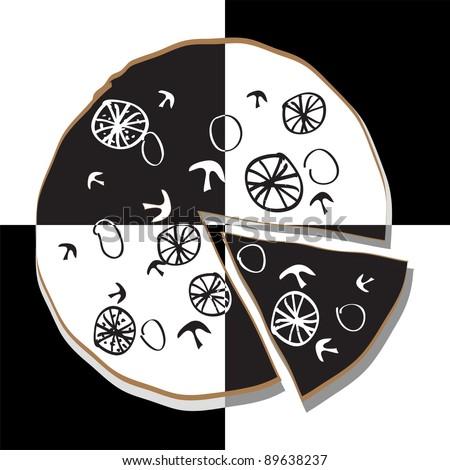 Pizza vector illustration - stock vector