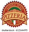 pizzeria label design - stock vector