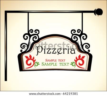 pizzeria sign - stock vector