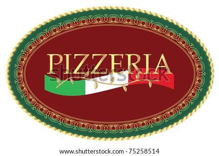 PIZZERIA SIGN VECTOR - stock vector