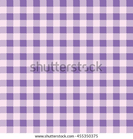 Superb Plaid Kitchen Tablecloth Pattern With Vintage Purple Color. Seamless Pastel  Geometric Square Checkered Fabric Pattern