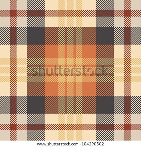 Plaid pattern - stock vector
