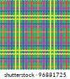 Plaid pattern from knitted texture - stock vector