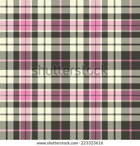 Plaid seamless pattern - stock vector