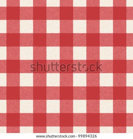 Plaid tablecloth - stock vector