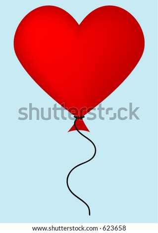 Plain red balloon on which the designer can insert desired text - vector image
