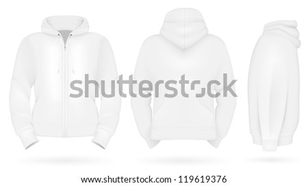 Plain training hoodie template. - stock vector