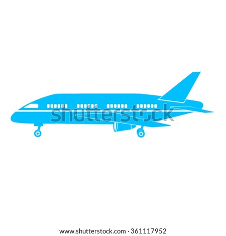 Plane icon on white background vector illustration for web or application