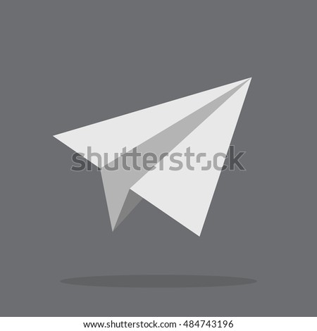 Plane Icon. Paper Plane Icon in Vector
