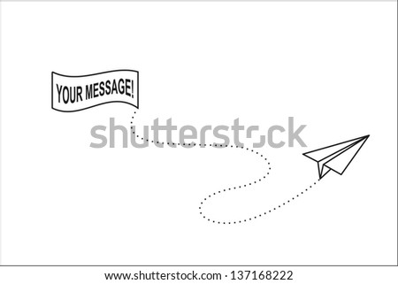 plane of the paper - stock vector