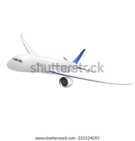 plane on white background  - stock vector