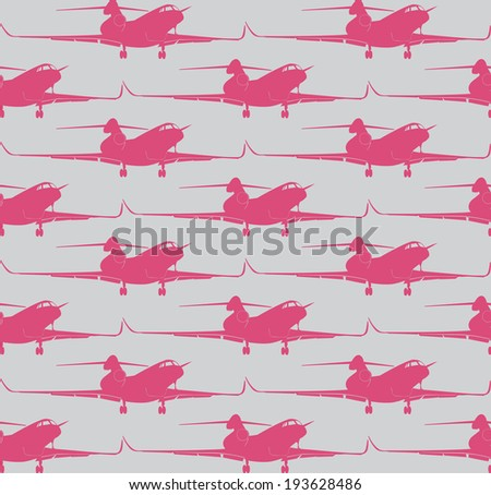 planes pattern. EPS10 vector image 0104 - stock vector