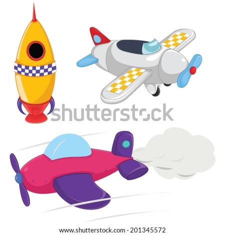 Planes Vector Illustrations - stock vector