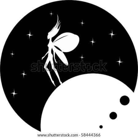 planet angel - stock vector