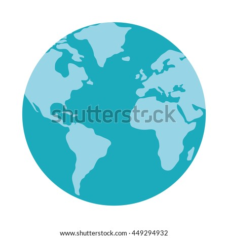 Planet concept represented by earth icon. isolated and flat illustration  - stock vector