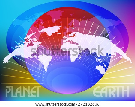 Planet earth Abstract composition of the elements of cartography and planetary spheres on topic.