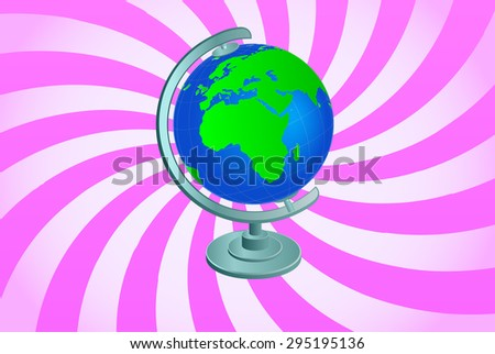 Planet Earth Globe - Beaming Background - stock vector