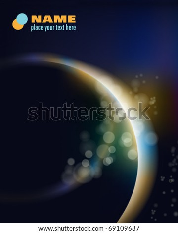 Planet earth in space - stock vector