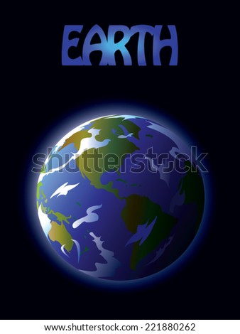 Planet Earth isolated on dark background