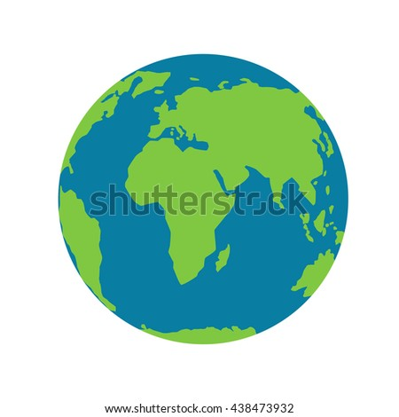 planet earth on a white background. Planet with continents