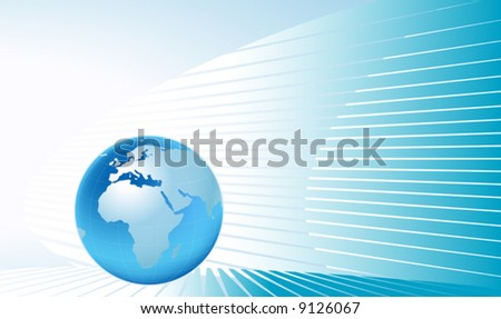 planet earth on abstract background