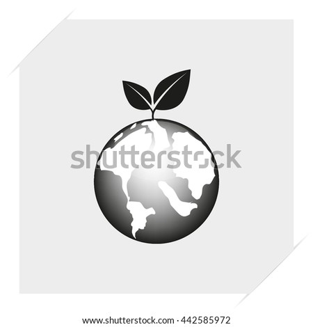 planet earth with arrow vector illustration