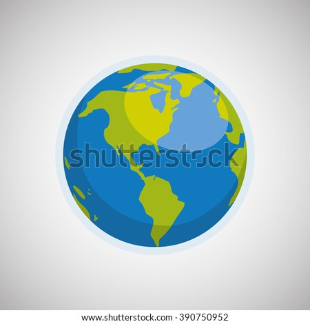 Planet icon design - stock vector