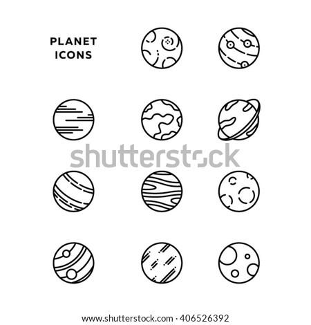 Planet icon. Planet vector. Planet art. Planet icon set. Planet vector design. Planet illustration set. Planet design. Planet icon in vector. Planet picture. Planet line icon. Planet art set. - stock vector