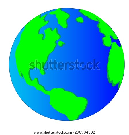Planet land on white background is insulated