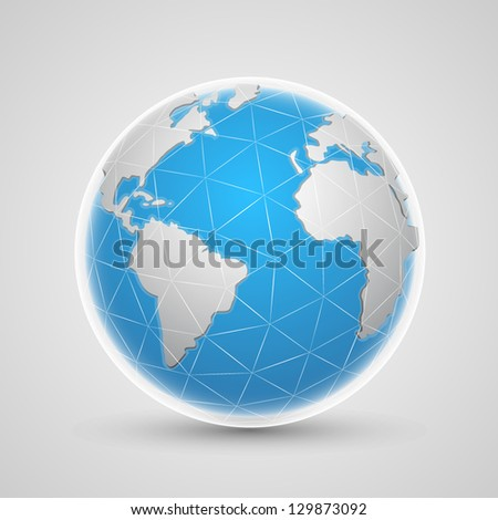 planet network earth - stock vector