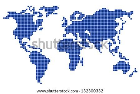 Planet pixel - stock vector