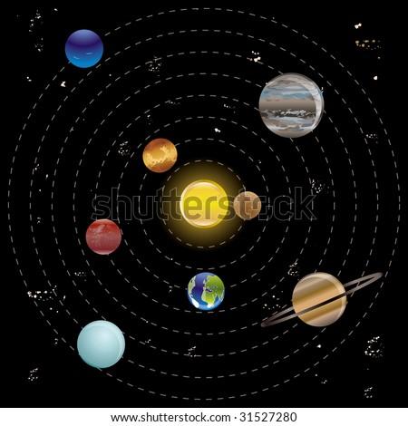 solar system vector - photo #12