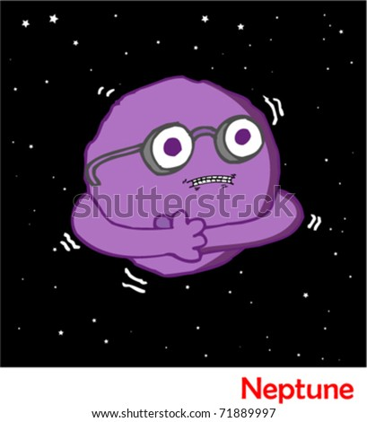 Planets in the Solar System Neptune - stock vector